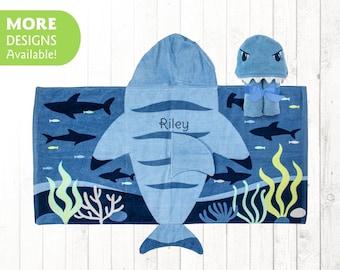 Shark towel kids Personalized