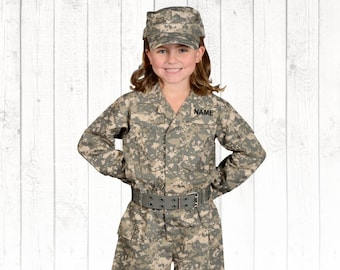 Kids Childrens Boys Us Army Usmc Soldier Woodland Forest Camo