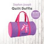 Personalized Ballet Duffle Bag, Stephen Joseph Quilt Duffel, Embroidered, Monogrammed Kids Toddler Ballet Duffle