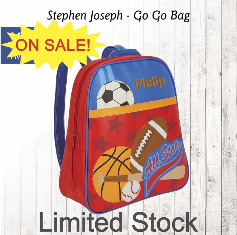 CLOSE OUT Personalized Sports Backpack Stephen
