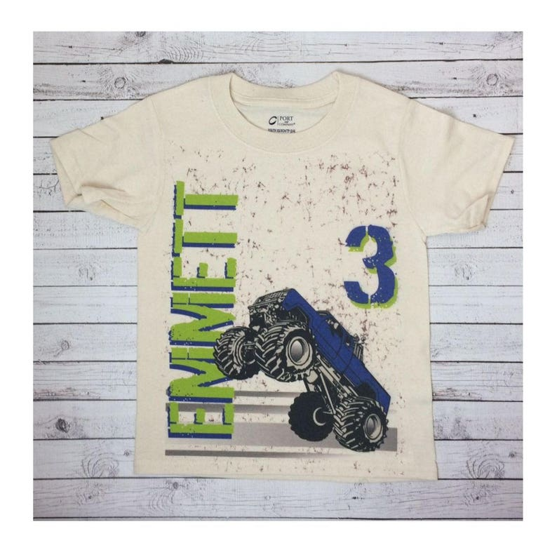 95211f45 ... monster truck t shirt for toddlers infants and youth monster etsy ...