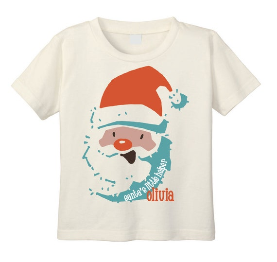 Santa's Little Helper T shirt, Santa T Shirt, Personalized Christmas Shirt, Christmas Shirt for Kids, Retro Santa, Santa Clause T Shirt,