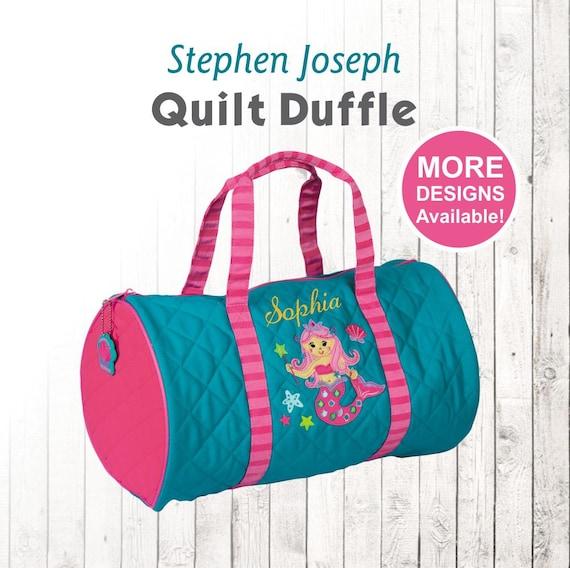 a0a83b02d6f8 Personalized Mermaid Duffle Bag Stephen Joseph Quilt Duffel
