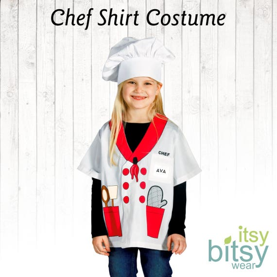 Chef Halloween Costume Kids Halloween Costume Personalized Etsy