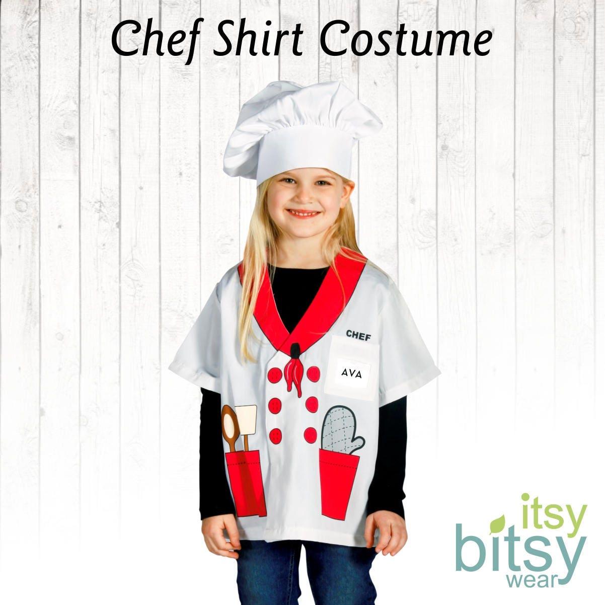 chef halloween costume kids halloween costume personalized | etsy