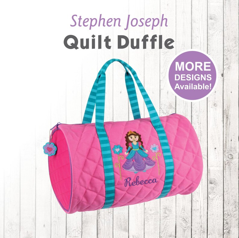 f344f3f87c Personalized Princess Duffle Bag Stephen Joseph Quilted