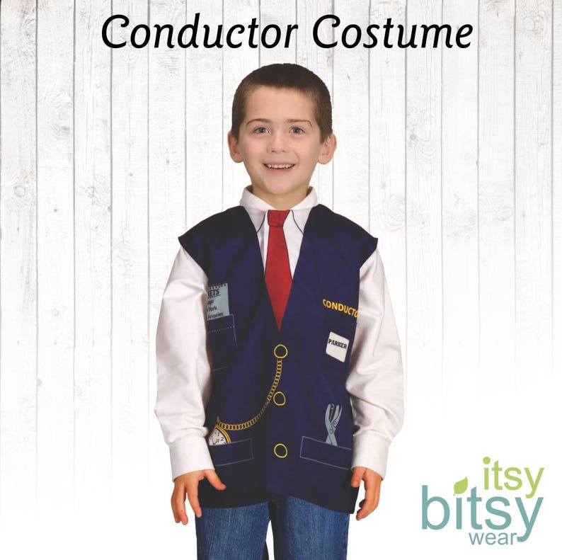4a618d5dbc Train Conductor Costume Kids Halloween Costume Personalized