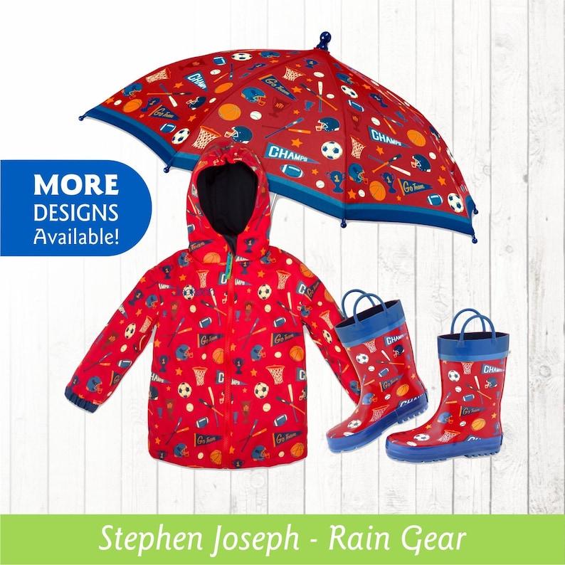 4cad36f522d8 Sports Raincoat Personalized Kids Sports Theme Rain Gear | Etsy
