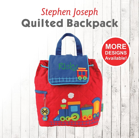Personalized Children's Train Backpack, Stephen