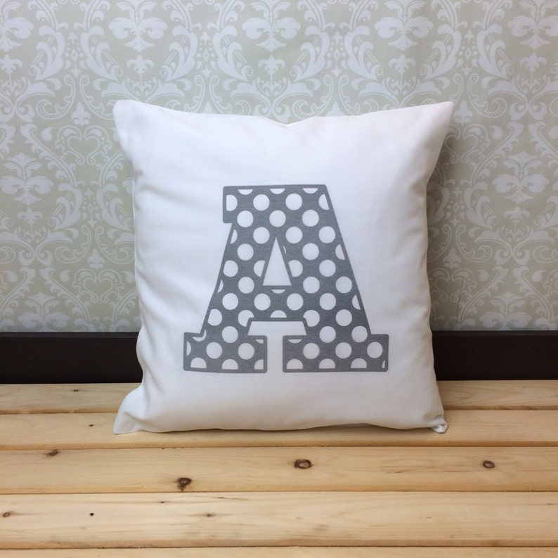 Personalized Pillow for Kids Bedroom Decor Kids Playroom Decor Alphabet Pillow Cover for Teen Monogram Pillow for Nursery