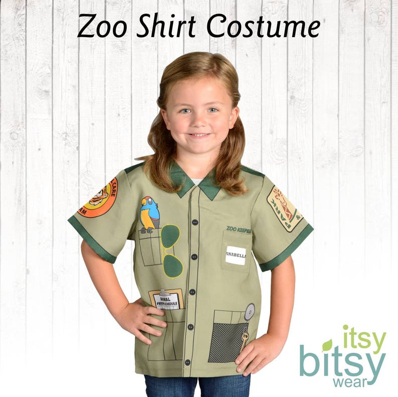 Good Zoo Keeper Costume Kids Halloween Costume Personalized Career Day Outfit  Kids Dress Up Zoo Keeper Halloween Costume Girl Costume Boy Costume