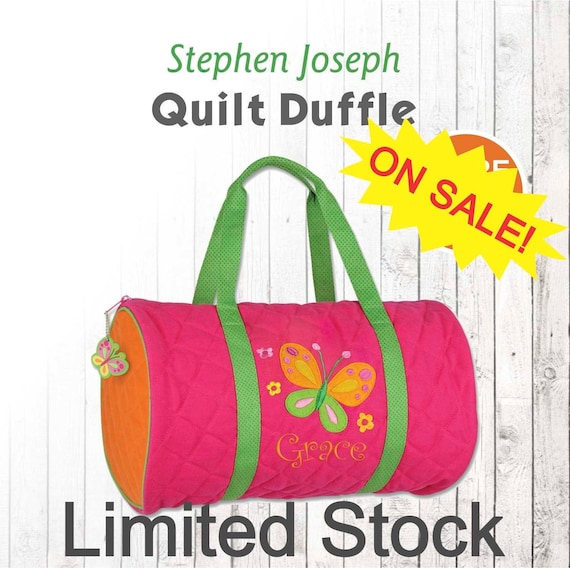 e08ab70544d9 CLOSE OUT Personalized Butterfly Duffle Bag Stephen Joseph
