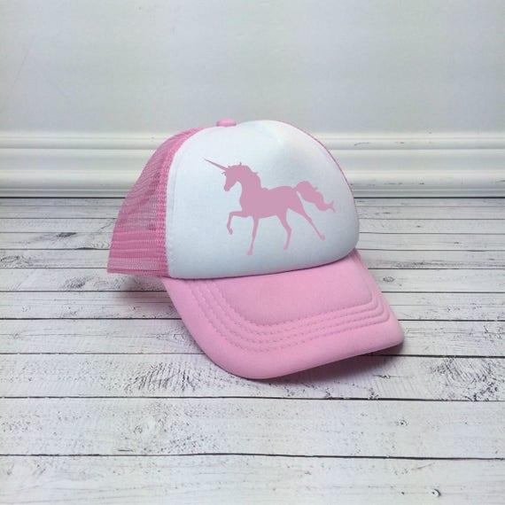7acedf44c Unicorn Trucker Hat for Kids, Unicorn Youth Hat, Pink Youth Hat, Childrens  Hats, Foam Mesh Hat