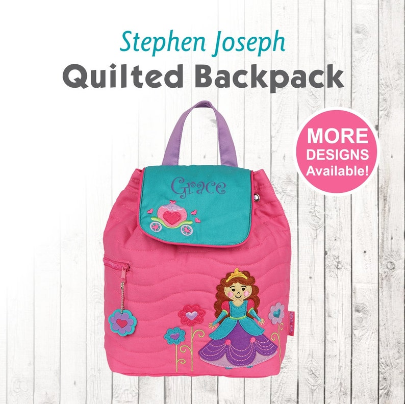 Personalized Princess Backpack embroidered with name Stephen  fb159f0feabd3