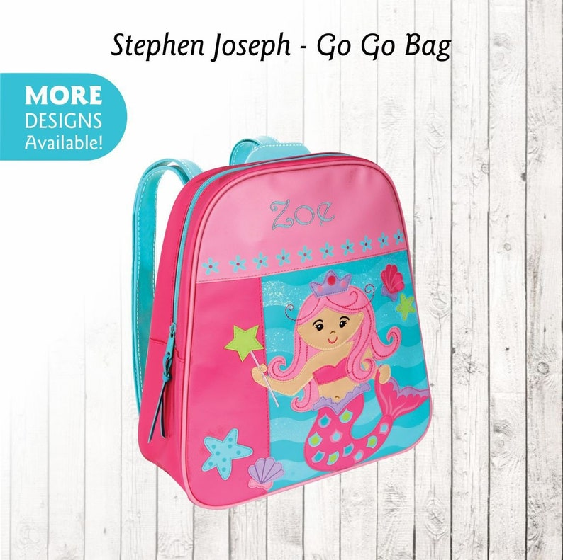Personalized Mermaid Backpack Stephen Joseph