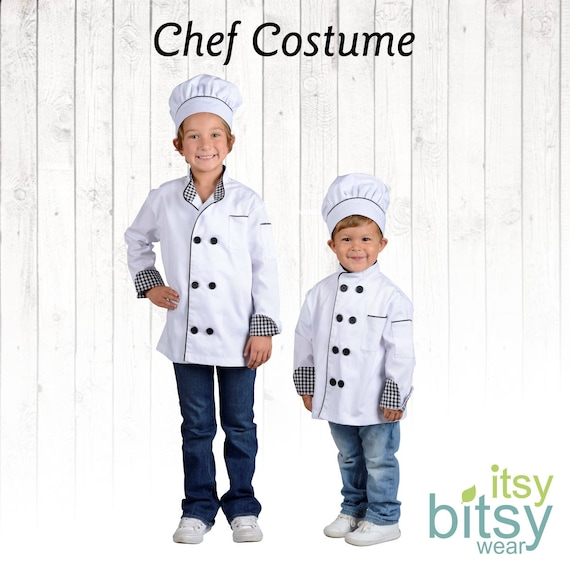 Kids Halloween Costume Kids Chef Costume Personalized Chef Etsy