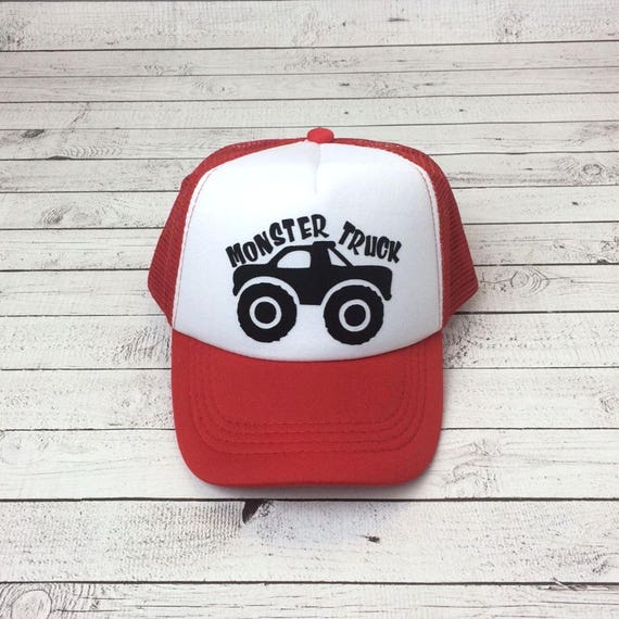 40202b81621 Monster Truck Hat Kids Hats Trucker Hat for Kids Foam Mesh