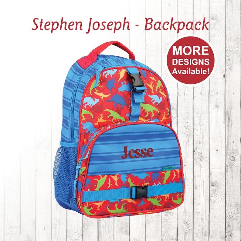 7796b670f4 Personalized Dinosaur Backpack Stephen Joseph Backpack
