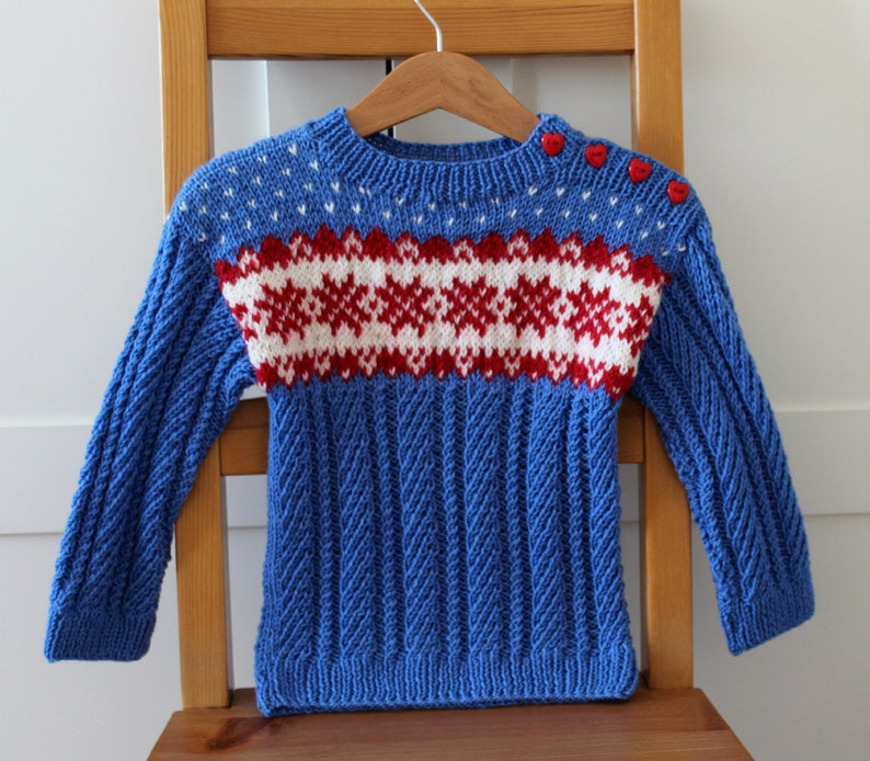 KNITTING PATTERN Baby Toddler Sweater Winter Dreams Sweater image 0