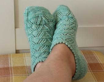 KNITTING SOCKS PATTERN Joy Socks Ankle Version knit socks easy lace socks women's kids socks pdf pattern Instant Download socks beginners