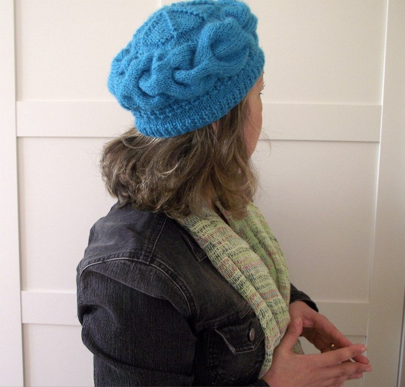 4d23936cac1 KNITTING HAT PATTERN Nela Hat Cables woman knitting hat