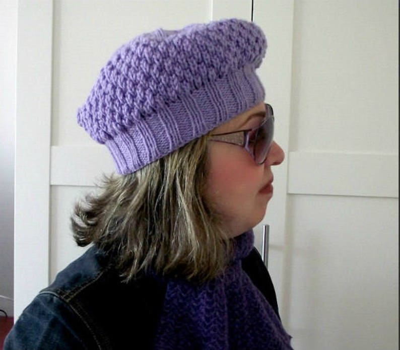 KNITTING HAT PATTERN LouLou Boina Hat Instant Download pdf  4aac679670a