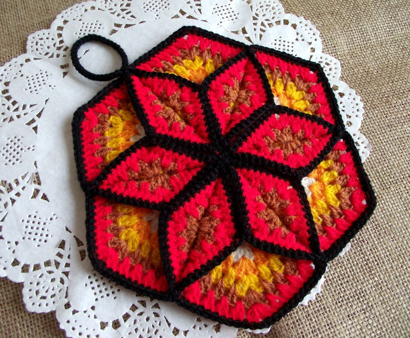 Crochet Pattern Pot Holder Lucky Star Pot Holder Easy Crochet Etsy