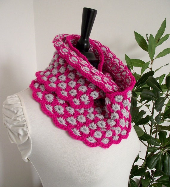 Knitting Pattern Cowl Charlotte Cowl Knit Scarf Pattern Etsy