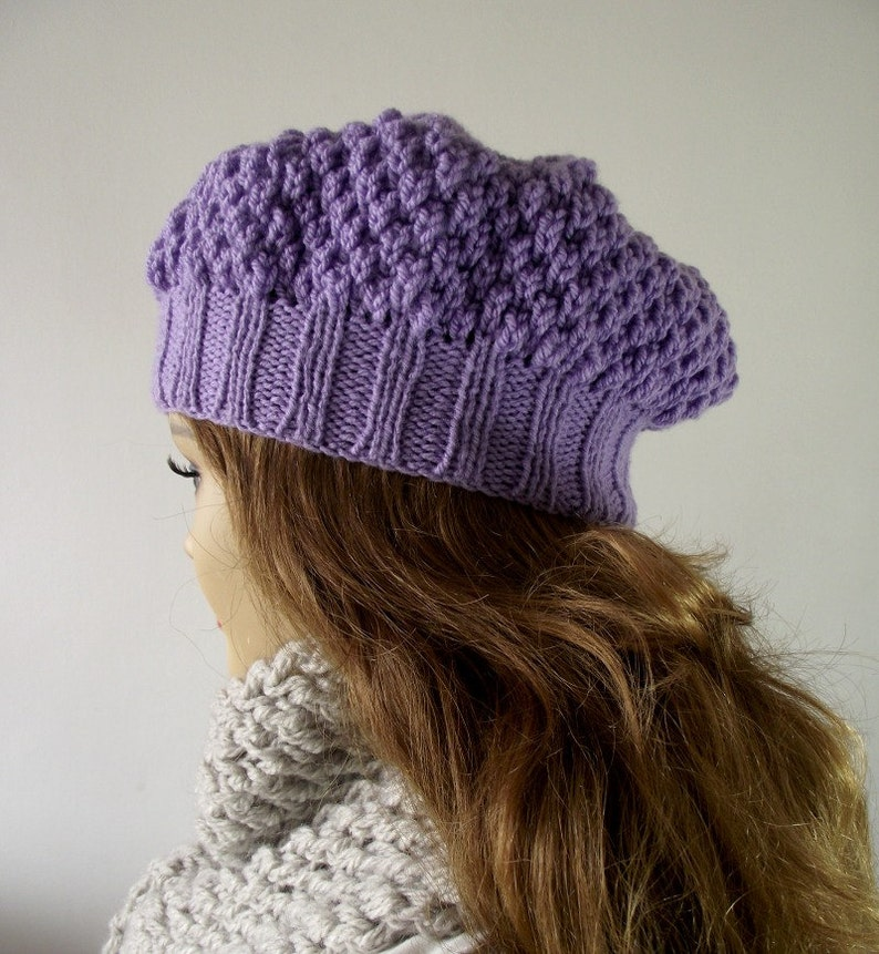 KNITTING HAT PATTERN LouLou Boina Hat Instant Download pdf  786fa9c46b2