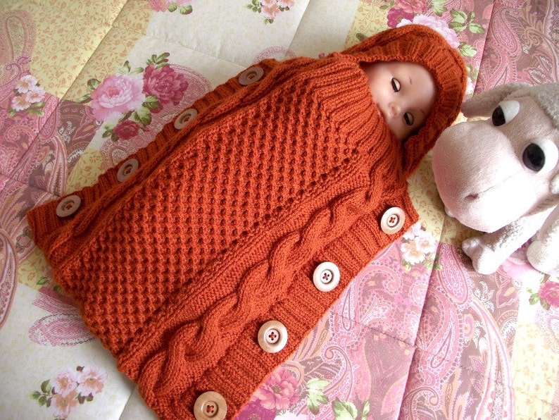 90793cccd KNITTING PATTERN Baby Cocoon - Sweet Snuggle Baby Cocoon pdf pattern  Instant Download baby sleeping bag knit pattern