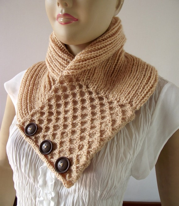 Knitting Cowl Pattern Honey Waffle Cowl Scarf Pattern Pdf Etsy