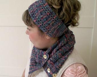 KNITTING PATTERN HEADBAND Happy Valley headband knit ear warmer knit hair accessorie pdf pattern instant download knitting Head wrap pdf