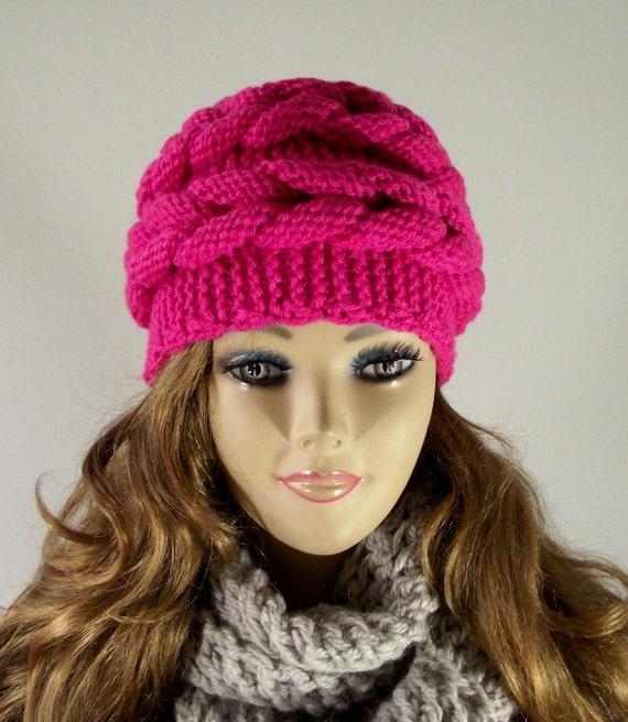 Knitting Pattern Hat Aralenna Hat Knit Winter Woman Hat Etsy
