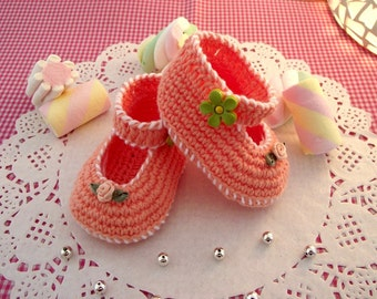 CROCHET PATTERN BABY Shoes - Little Lilly Crochet Baby Shoes Pattern ballerinas for babies pdf file pattern Instant Download
