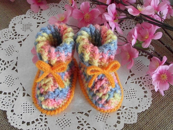 Crochet Pattern Booties Baby Shoes Alegria Baby Crochet Etsy