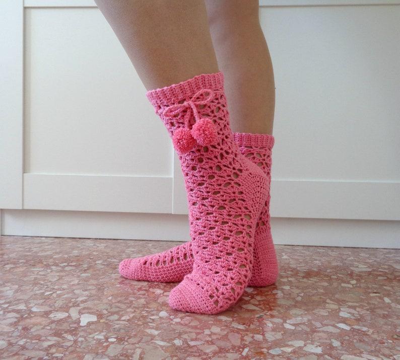 e3e93a28554e Crochet SOCKS Pattern Tabatha Crochet Socks sizes S M L