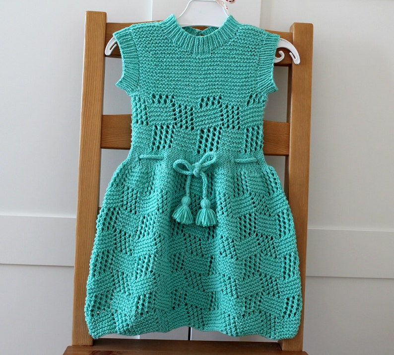 571f7dd55 Knitting Pattern Baby Toddler Dress Rosalinda Baby Dress