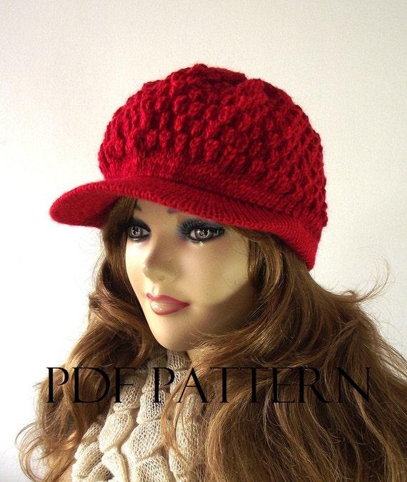 Knitting Hat Pattern Newsboy Hat Claire Newsboy Hat Pattern Etsy