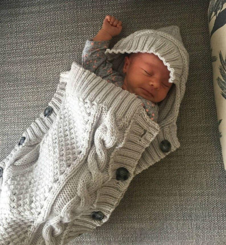 759212dde BABY COCOON Knitting Pattern - Sweet Snuggle Baby Cocoon pdf pattern  Instant Download baby sleeping bag knit pattern