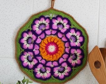 CROCHET PATTERN Pot Holder Garden Pot Holder, Kitchen Decoration, oven holder, easy crochet pot holder pattern Pdf File Instant Download