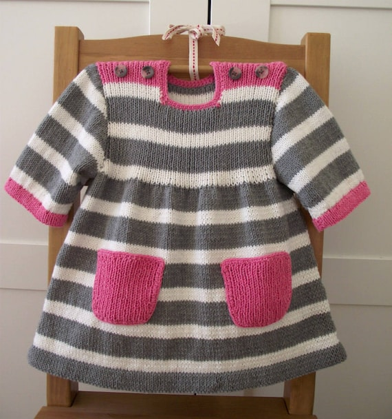 Knitting Pattern Baby Dress Happy Day Baby Dress Baby Girl Etsy
