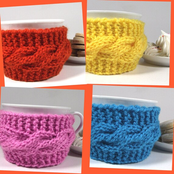 Knitting Pattern Cozy Cup Lazy Morning Tea Cup Pattern Etsy
