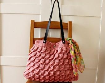 CROCHET BAG PATTERN Crochet Shoulder Bag woman Handbag Fandango crochet Tote Bag pdf pattern Instant Download easy crochet bag tutorial