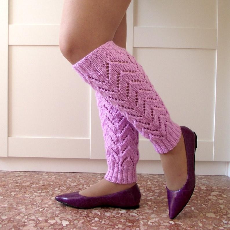 KNITTING PATTERN Legwarmers  Daisy Legwarmers  socks leg image 0