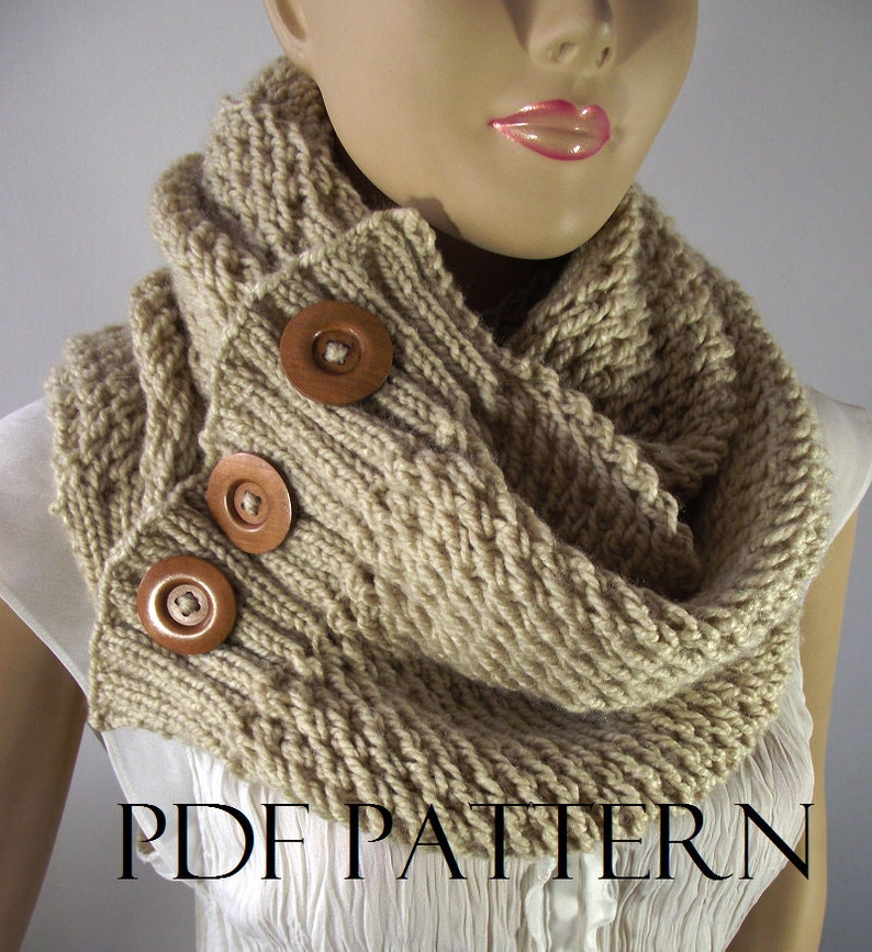 Knitting Pattern Scarf Big Scarf Patterns Loulou Scarf Cowl Etsy