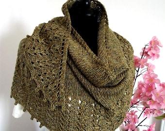 KNITTING SHAWL PATTERN - Eternity Shawl Pattern, Lace Shawl Knit Pattern pdf knitting pattern instant download easy lace shawl pattern