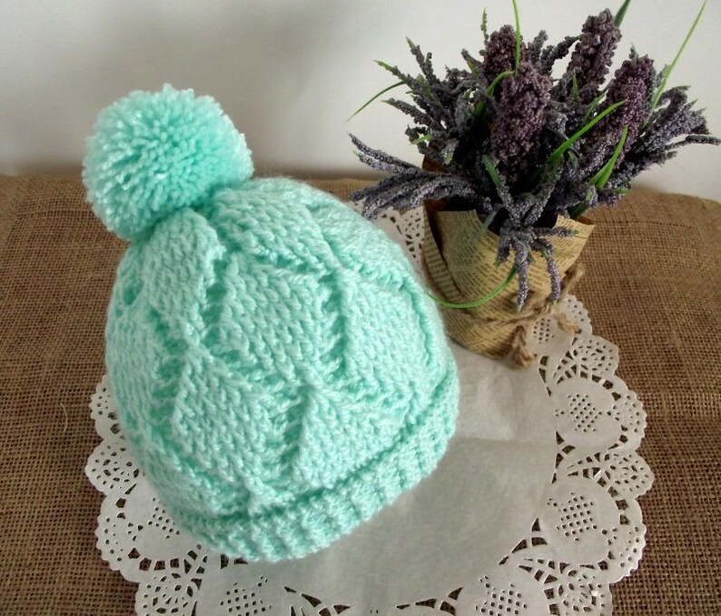 Crochet Pattern Baby Crochet Hat Diamonds Baby Hat Beanie Etsy