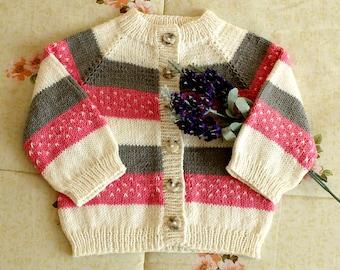 Knitting Pattern Baby Cardigan Marshmallow Baby Cardigan Sweater raglan baby toddler cardigan pdf pattern Instant Download