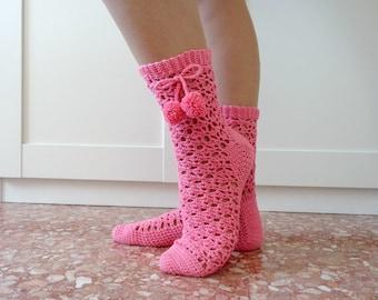 Crochet SOCKS Pattern - Tabatha Crochet Socks - sizes S M L lace socks crochet pdf pattern instant download easy crochet socks patterns