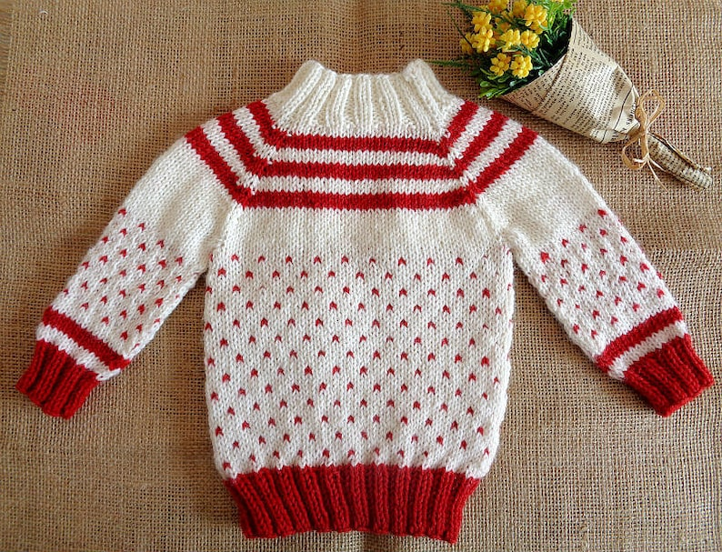 Knitting Pattern Baby Sweater Candy Baby Sweater Raglan Etsy